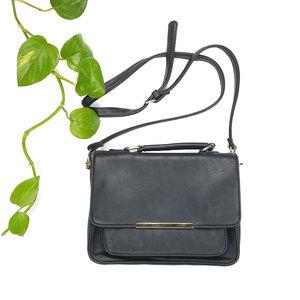 Forever 21 Black Front Flap Crossbody Bag